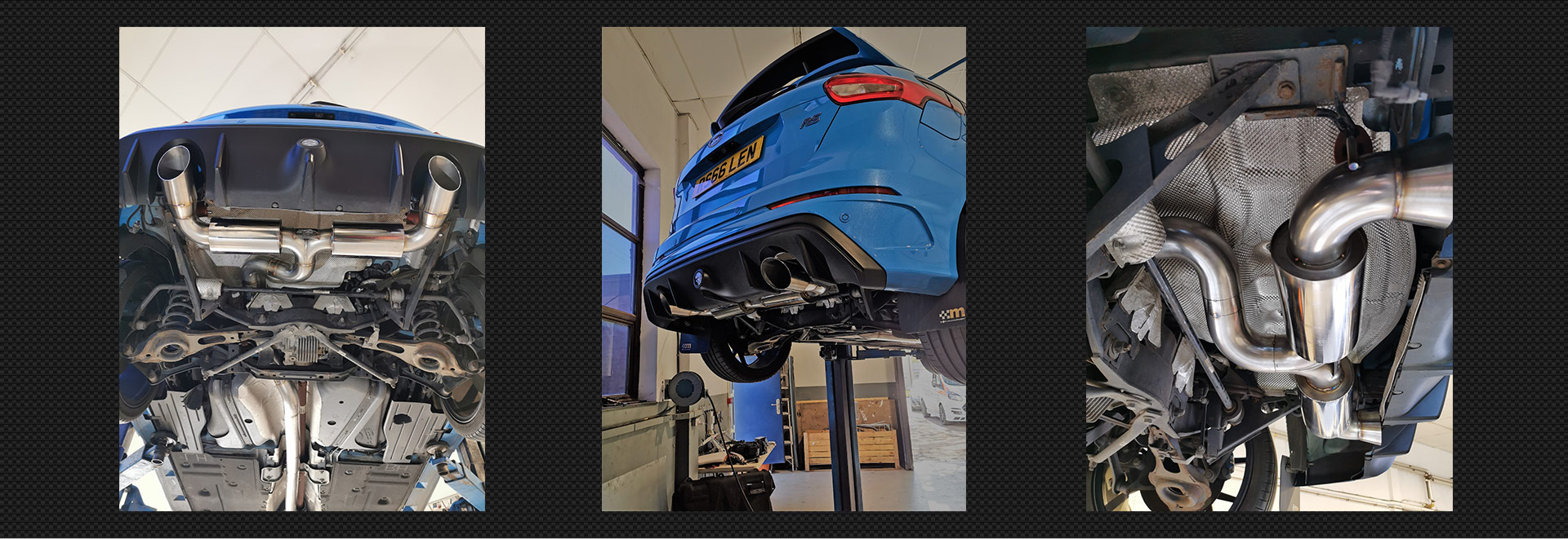 Focus RS custom stainless exhaust system